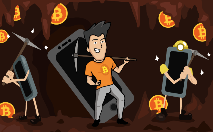 cell phone crypto mining