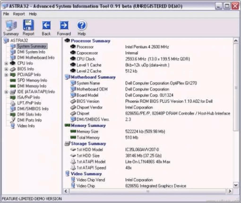ASTRA 32- system information tool