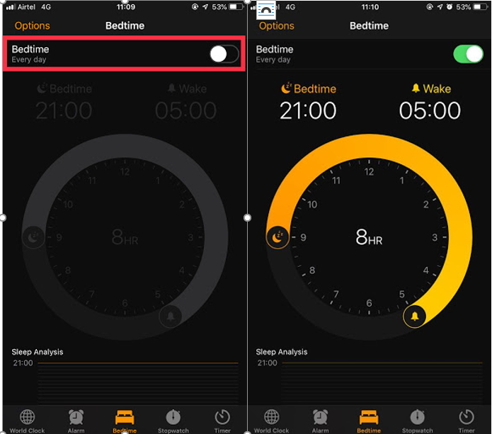 Activate BedTime On iOS Device