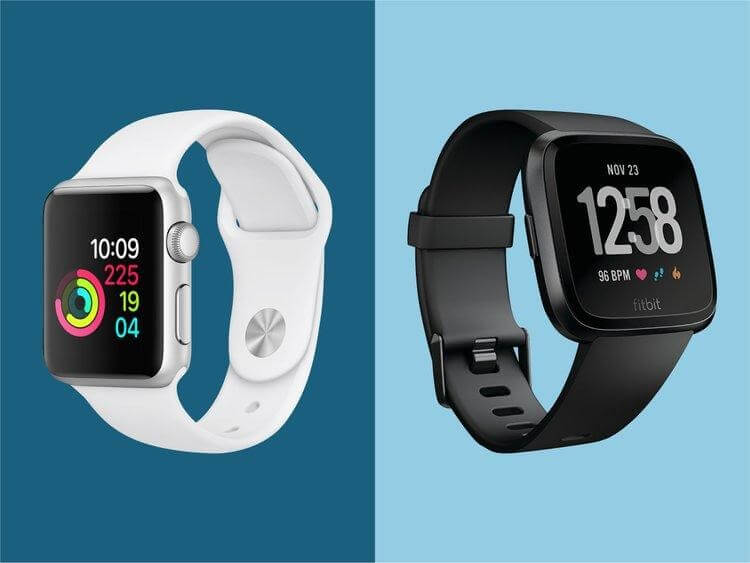 Design and Looks fitbit vs apple watch