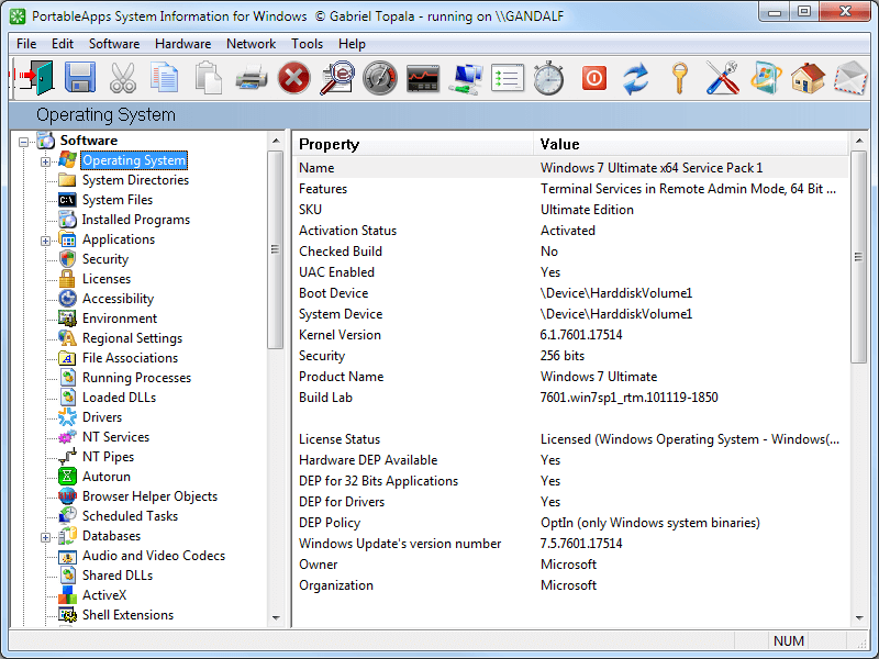 System Information For Windows