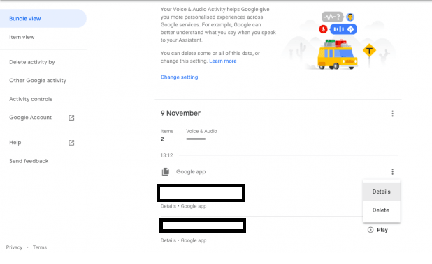 To delete recorded voice command from Google Assistant, follow the steps below-1