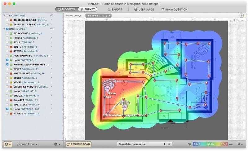 Scan the Coverage via Heatmap Software
