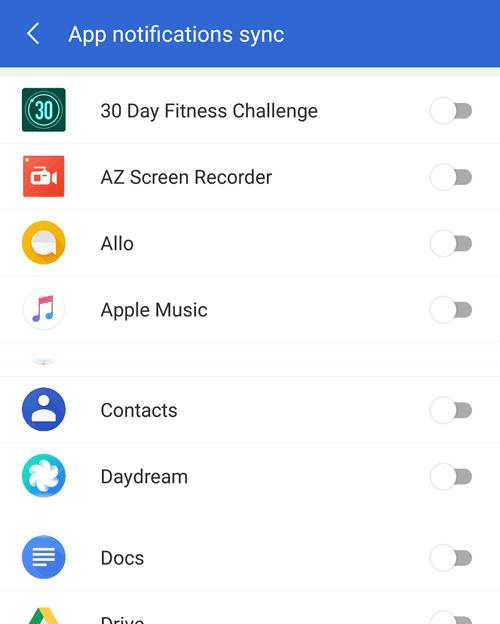 app notification sync
