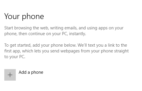 link phone windows 10