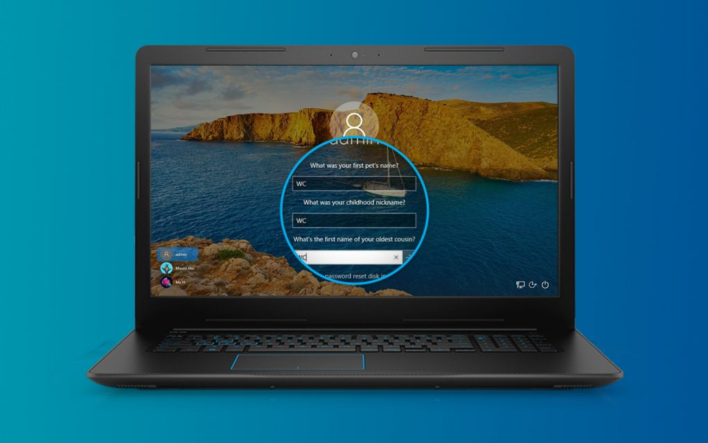 How to Disable Password Recovery Questions in Windows 10