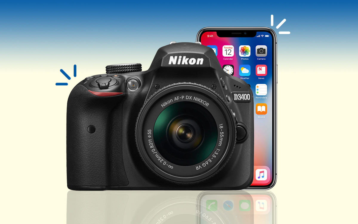 How To Connect The Nikon D3400 To Your iPhone
