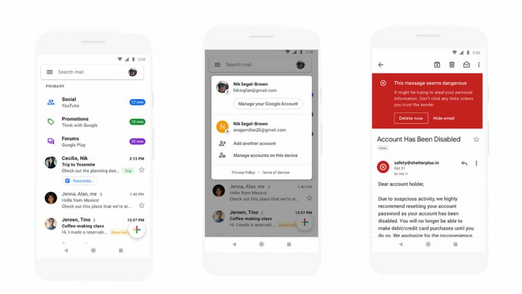 Google redesigns Gmail mobile app