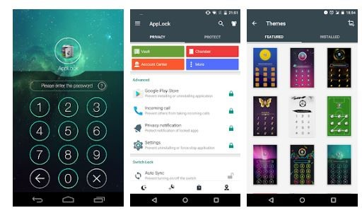 Hiding apps Using Applock developed by DoMobile