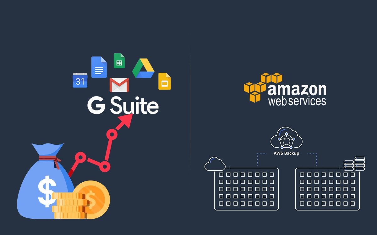 Newsletter Amazon Web Services Announce AWS Backup and Google Hikes G Suite Prices