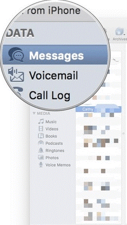Steps to Extract Voicemails and Messages from iPhone step 4