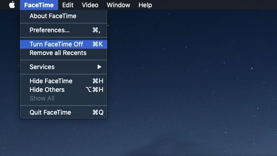 Steps to disable Facetime on Mac