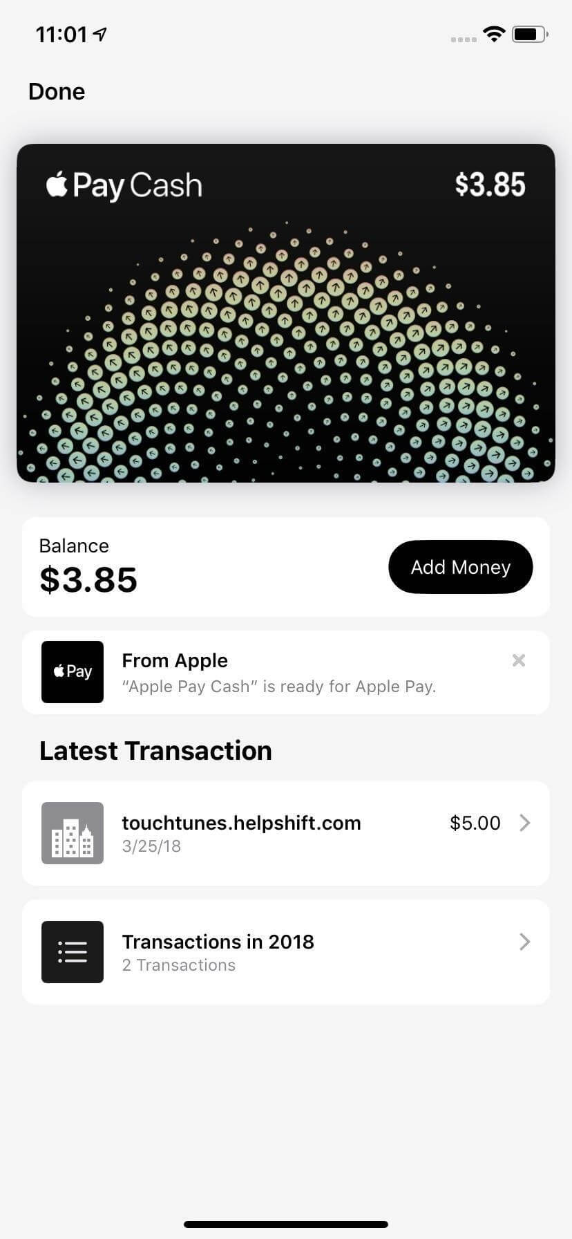 Revamped Apple Pay Cash Design