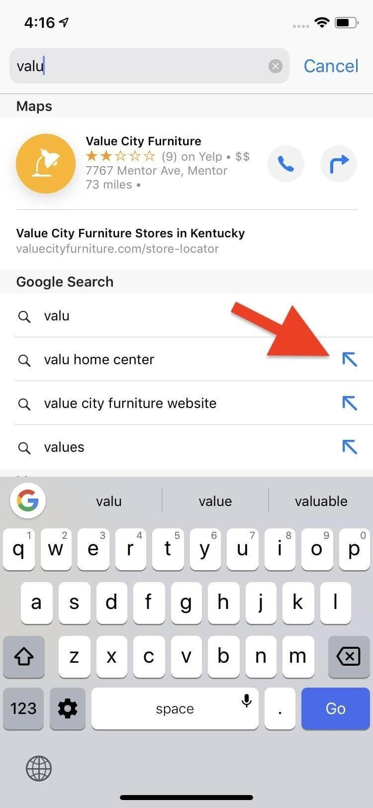 Smart Search on Safari