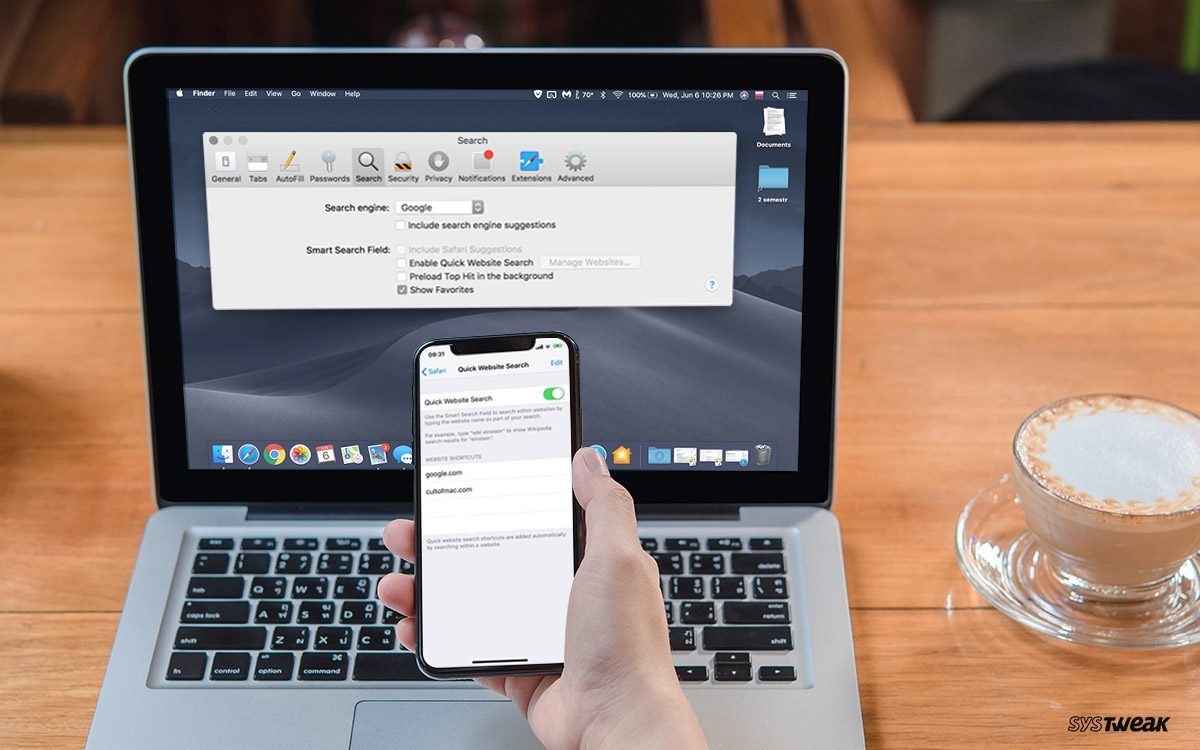 Search A Website On iPhone Or Mac Using Shortcuts