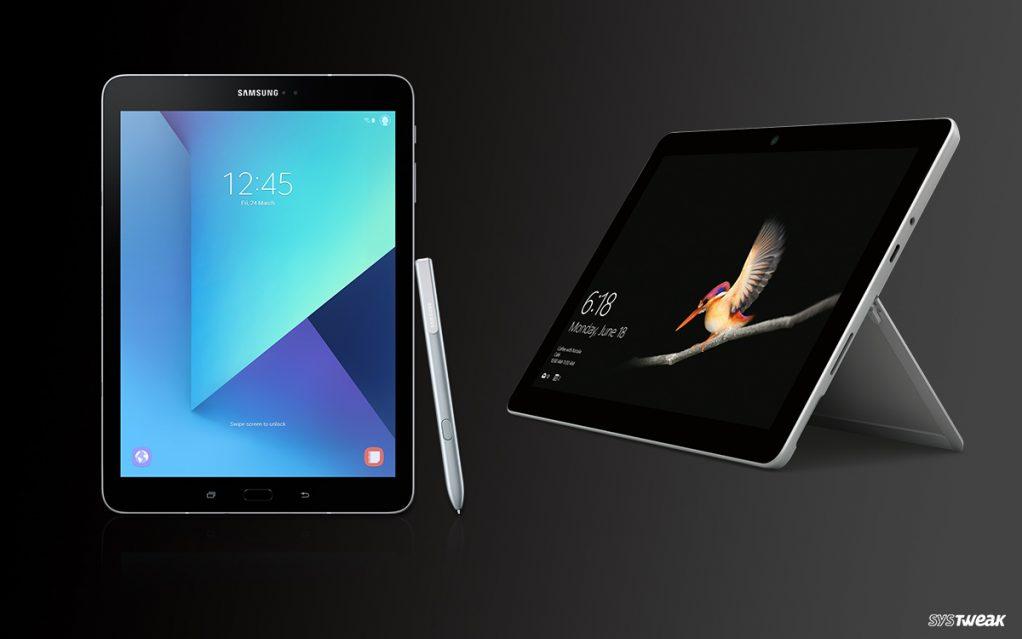 Samsung Galaxy Tab S3 vs Microsoft Surface Go