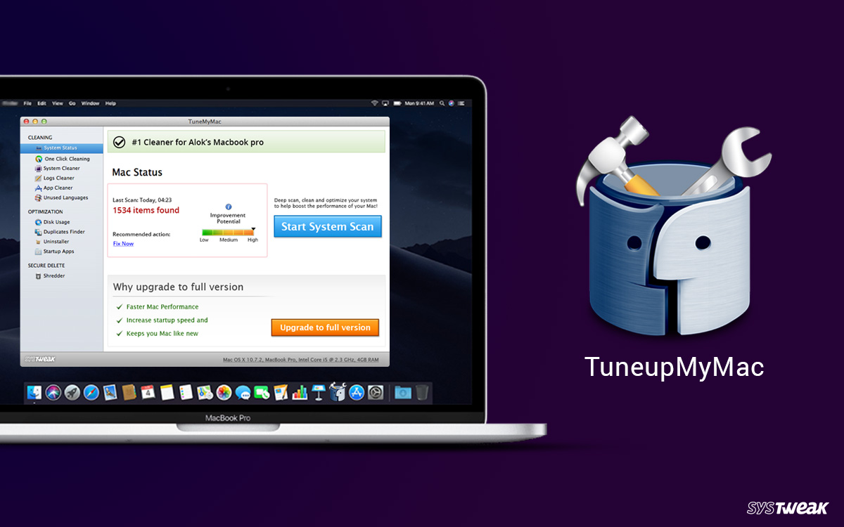 Optimize Your Mac With Systweak TuneupMyMac