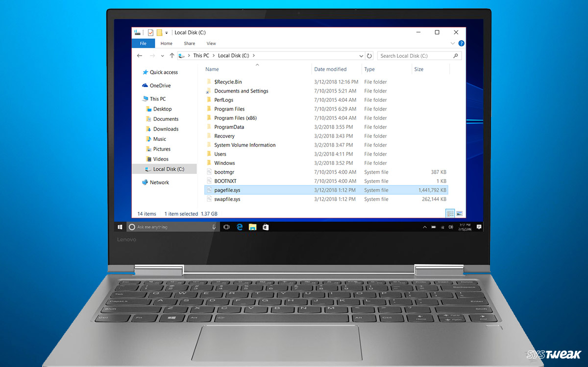 How to Change/Move or Disable Pagefile in Windows 10