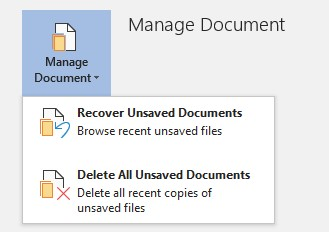 Steps To Recover Unsaved Word Document On Windows 10