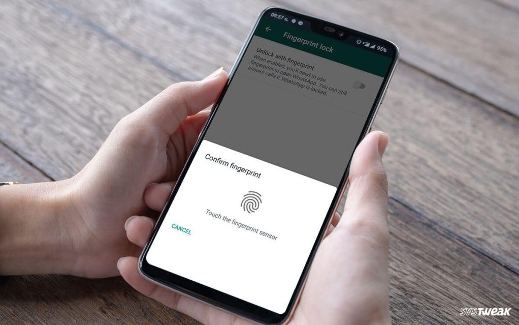 WhatsApp Fingerprint Lock Update On Android