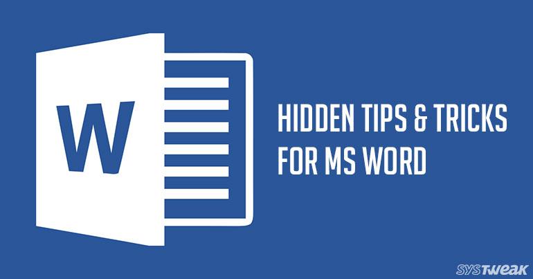 5 Best Hidden Features Of MS Word
