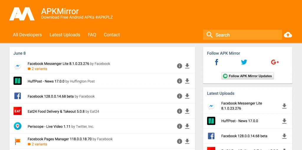 APKMirror- Google Play Store Alternatives