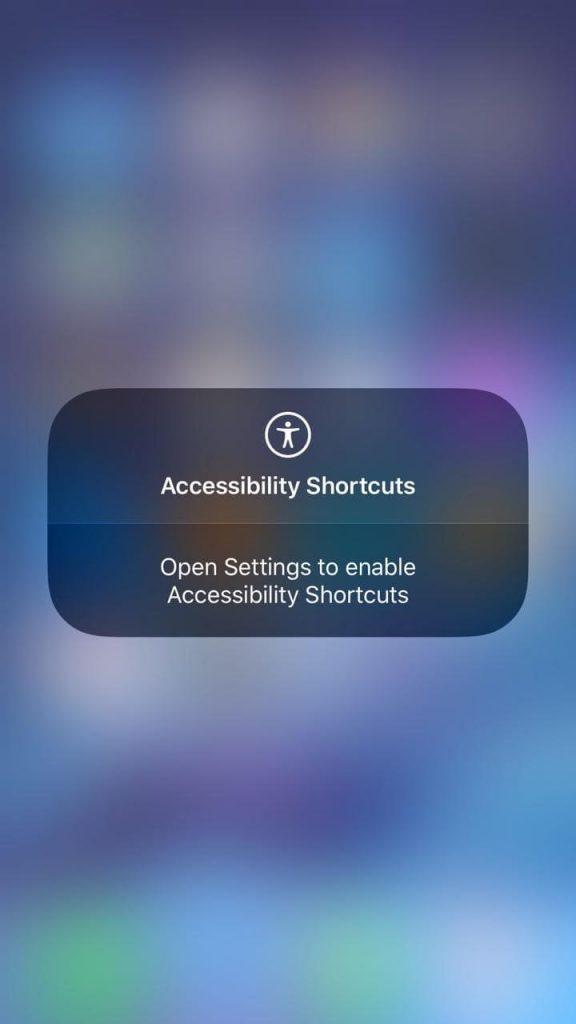 Accessibility Shortcuts