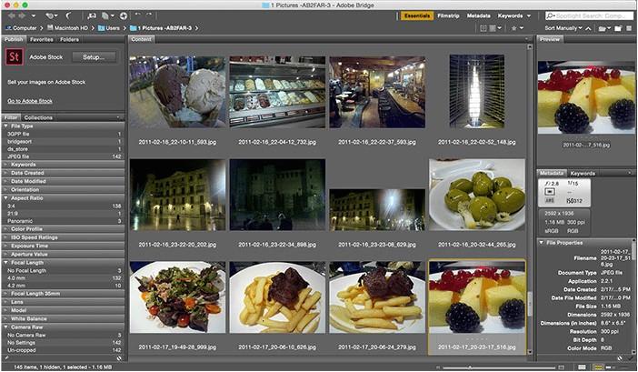 Adobe Bridge- photo organizing software