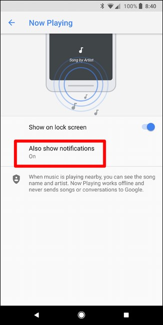 Also show notification