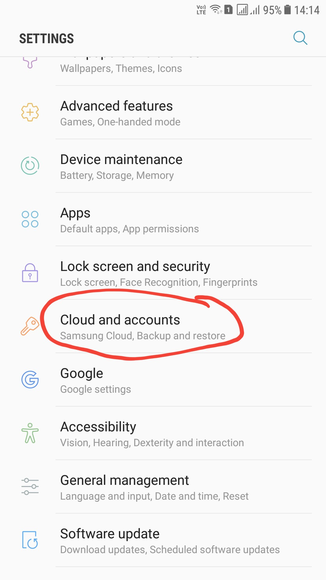 Android cloud and accounts