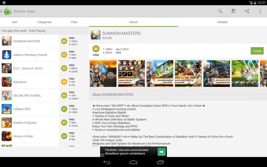 AppBrain- google app store alternate