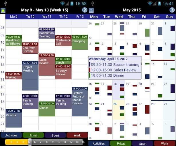 Business Calendar- best calendar app 2017