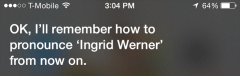 Can Change How Siri Pronounces Words