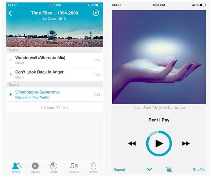 10 Best Music Player Apps For iPhone - Free iPhone Music Apps