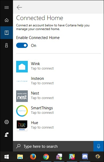 Enable connected home