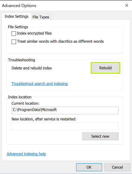how to fix Outlook Search Problem