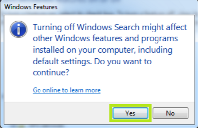 Outlook Search Problem