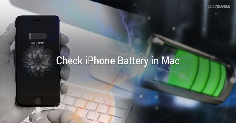 How To Check iPhone Battery From Mac