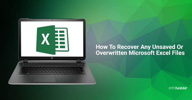 excel recover unsaved version