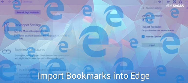 How to Import Bookmarks into Microsoft Edge