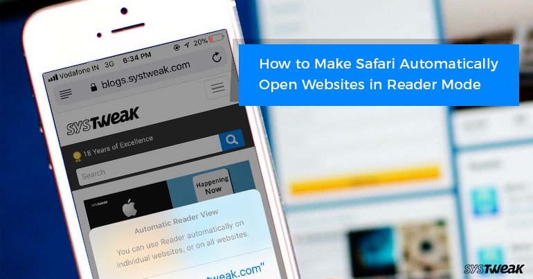 How To Make Safari Automatically Open Websites In Reader Mode