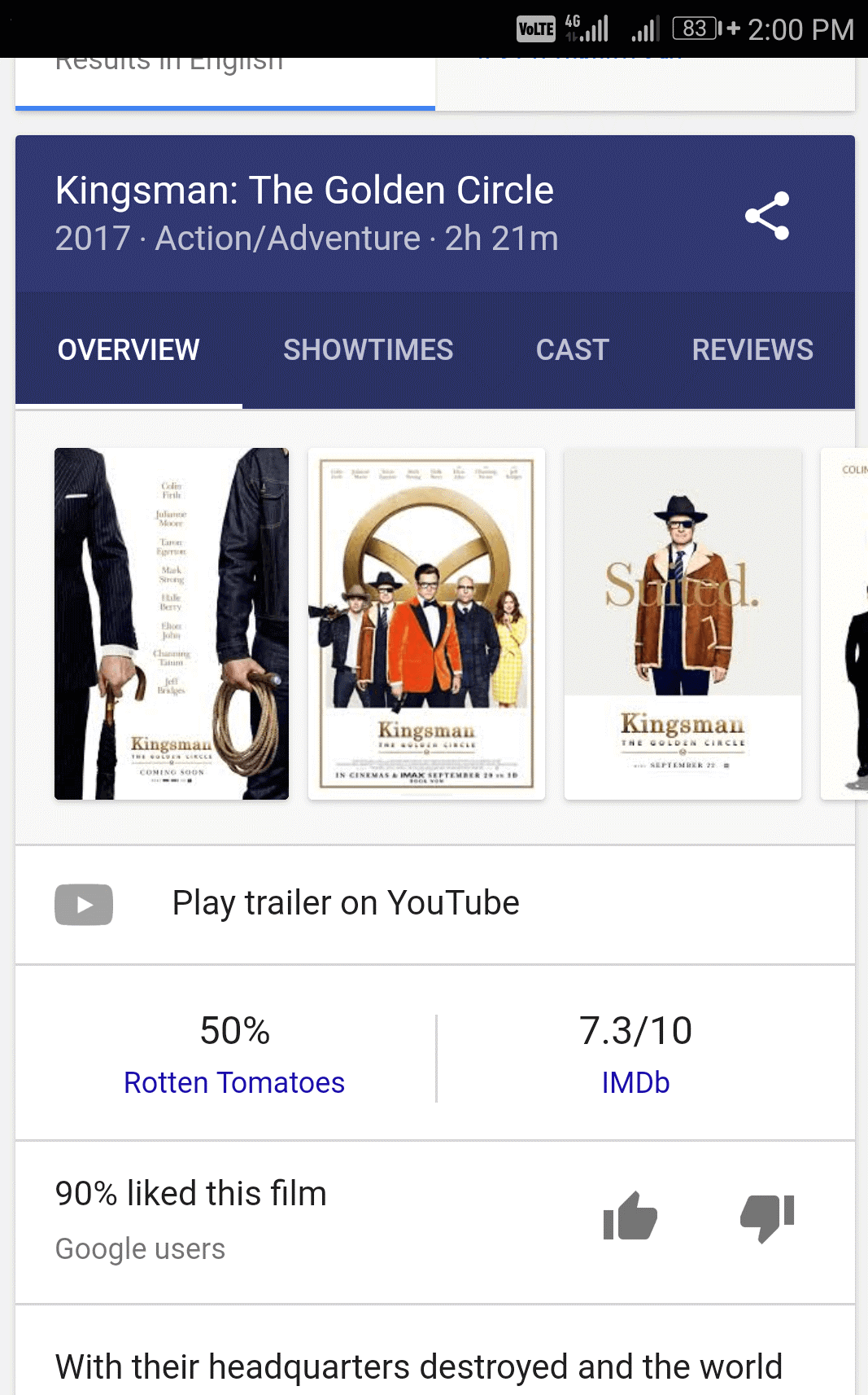 How to review or rate a movie