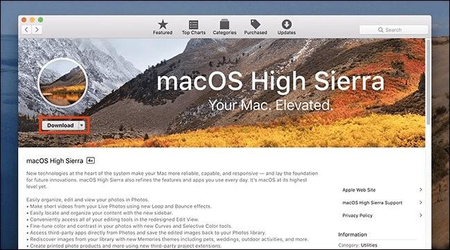 Mac OS High Sierra