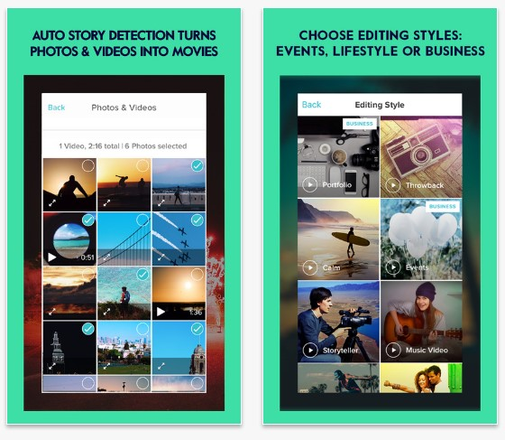 video editing apps for iphone with music