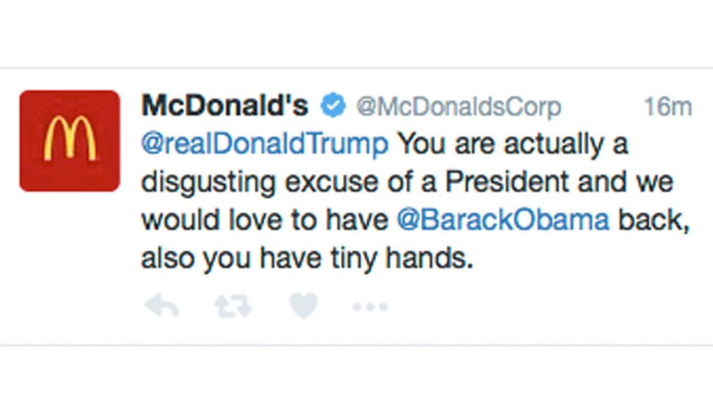 MacDonald's Twitter