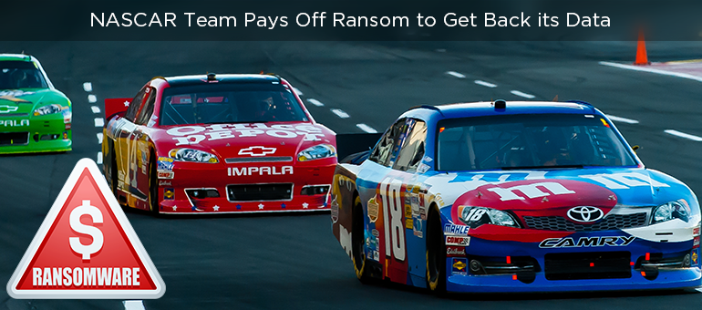 NASCAR Team Pays Off Ransom to Get Back its Data