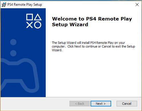 PS4 setup wizard