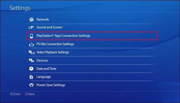 Play station settings