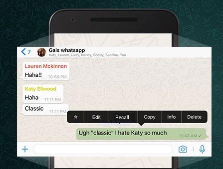 Recall whatsapp
