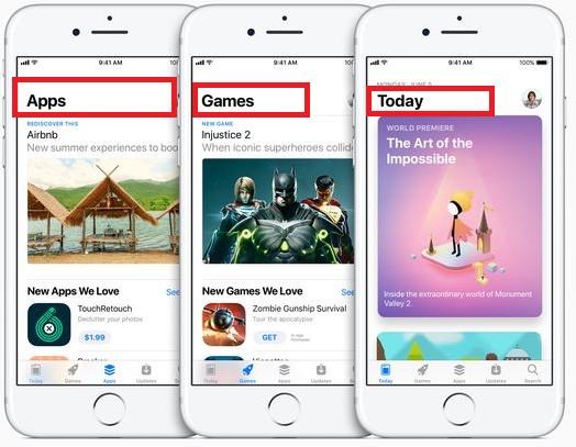 Redesigned app store